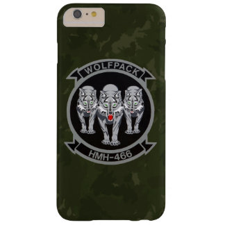"""HMH-466 """"Wolfpack""""の深緑色の迷彩柄 Barely There iPhone 6 Plus ケース"""