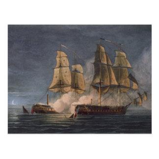 HMSのアメジストによるThetis、第10 Novembの捕獲 ポストカード