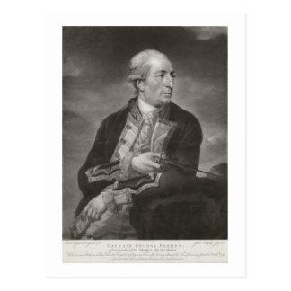 HMSのジョージの農家の(1732-79年の)大尉のポートレート ポストカード