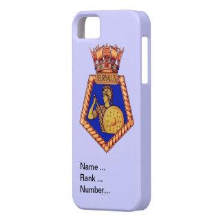 HMS Eurayalisに記章を付けて下さい、数を示して下さい、ランク付けして下さい iPhone SE/5/5s ケース