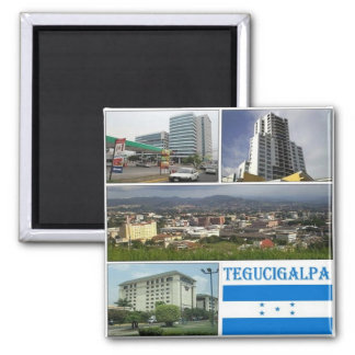 HN -ホンジュラス- Tegugigalpaのモザイク-コラージュ マグネット