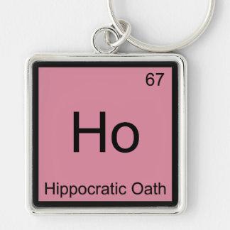 Ho -ヒポクラテス学派化学要素の記号のティー キーホルダー