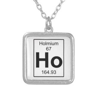 Ho -ホルミウム シルバープレートネックレス