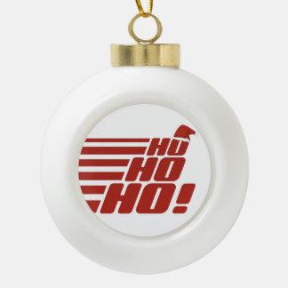 Ho Ho Hoカスタムなクリスマスのオーナメント セラミックボールオーナメント