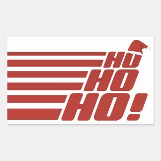 Ho Ho Hoカスタムなクリスマスのステッカー 長方形シール