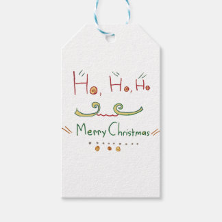 HO HO HOメリークリスマスのギフトのラベル ギフトタグ