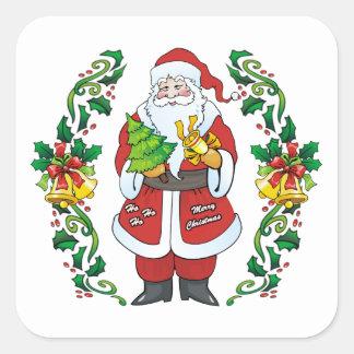 Ho Ho Hoメリークリスマス スクエアシール