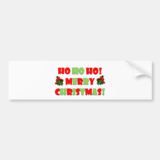 Ho Ho Hoメリークリスマス バンパーステッカー