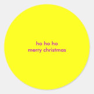 ho ho hoメリークリスマス ラウンドシール