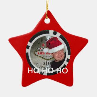 HO HO HOメルのクリスマスのポーカー用のチップのオーナメント セラミックオーナメント