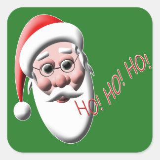 Ho! Ho! Ho! サンタのクリスマスのステッカー スクエアシール