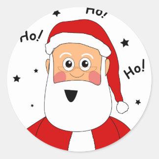 Ho! Ho! Ho! サンタ ラウンドシール