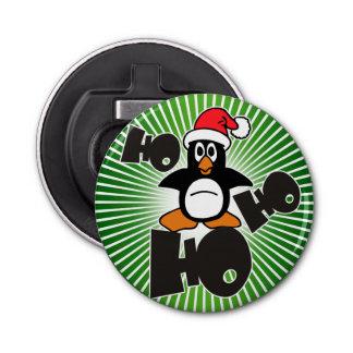 Ho Ho Ho -ペンギン-メリークリスマス + あなたのbackgr 栓抜き
