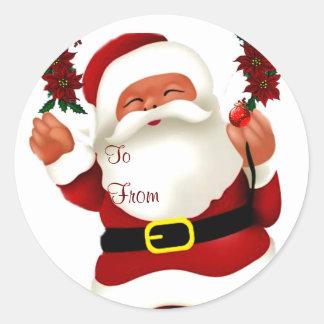 Ho! Ho! Ho! メリーなChristmas_ ラウンドシール