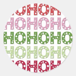 Ho Ho Ho ラウンドシール