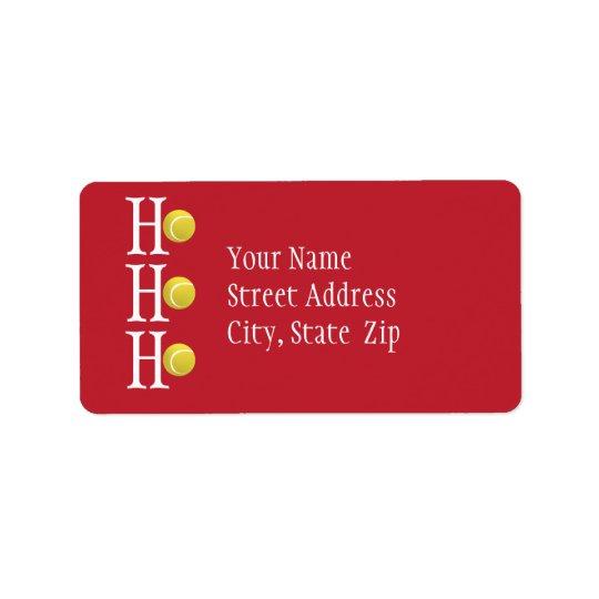 HO-HO-HO -名前入りな住所シール ラベル