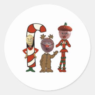 Ho! Ho! Ho! 3個のクリスマスのナットから ラウンドシール