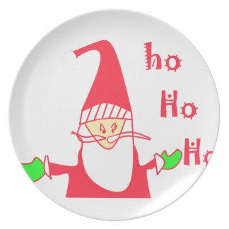 Ho Ho Ho Santa.pngからのメリークリスマス プレート