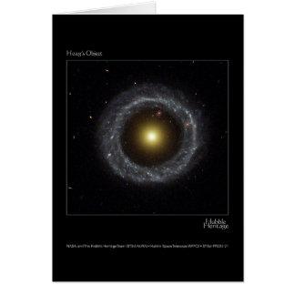 Hoagの目的のハッブルの望遠鏡の写真 グリーティングカード