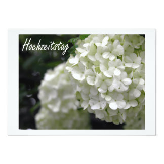Hochzeitstag Blumen カード