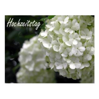 Hochzeitstag Blumen ポストカード