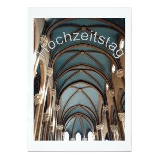 Hochzeitstag - Kirche カード