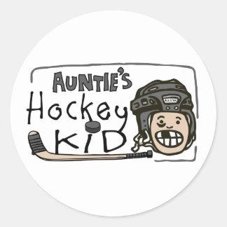 Hockey Kid伯母さんの ラウンドシール