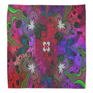 Hodge Podgeの花柄の抽象芸術 バンダナ