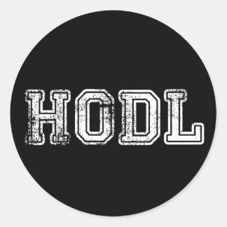 Hodl Cryptocurrencyのプリントのステッカー ラウンドシール