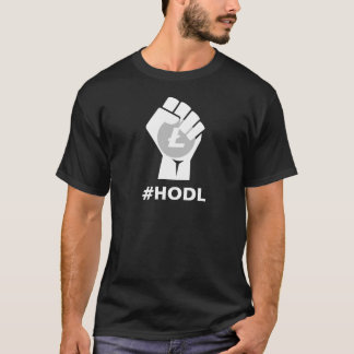HODL Litecoinの中佐ロゴ: 白い Tシャツ