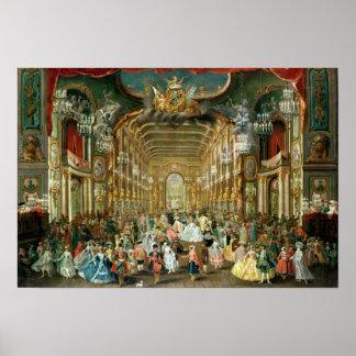 Hoftheaterの仮装舞踏会、ボン1754年 ポスター