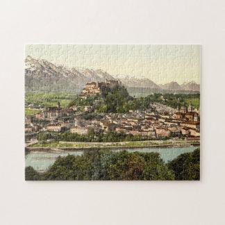 Hohensalzburgの城、ザルツブルク、オーストリア ジグソーパズル