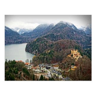 Hohenschwangauの城- Schwangauのドイツ郵便はがき ポストカード