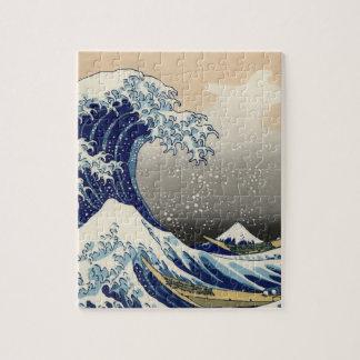 "Hokusaiのオリジナルc.1930の""素晴らしい波""のコピー ジグソーパズル"