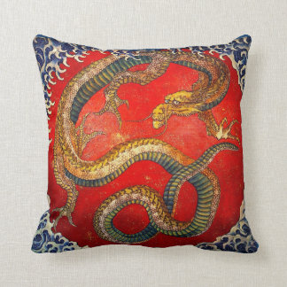 Hokusaiのドラゴンのファンタジーの芸術の装飾用クッション クッション