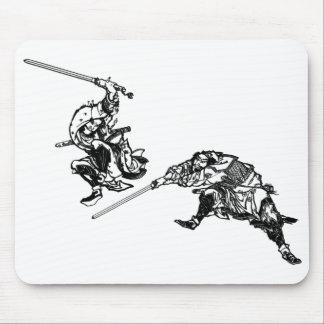 Hokusaiのマンガの武士2 マウスパッド