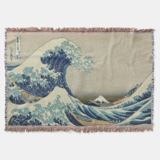 Hokusaiのヴィンテージの日本人の芸術著素晴らしい波 スローブランケット