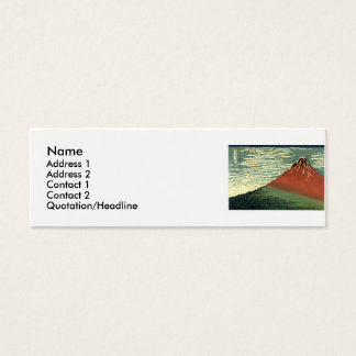 "Hokusaiの南風、澄んな空または""赤い富士"" スキニー名刺"