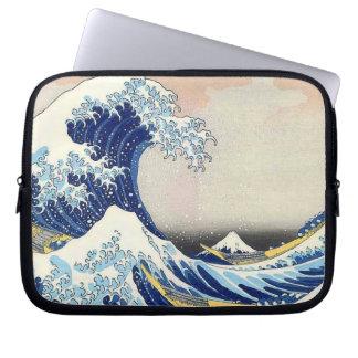 Hokusaiの日本のな芸術の波 ラップトップスリーブ