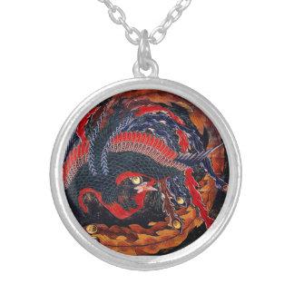 Hokusaiの日本人のフェニックスのネックレス シルバープレートネックレス