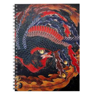 Hokusaiの日本人のフェニックスのノート ノートブック