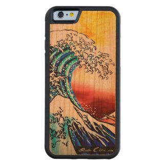 Hokusaiの波 CarvedチェリーiPhone 6バンパーケース
