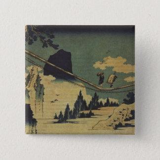 Hokusaiの芸術の絵画の景色 缶バッジ