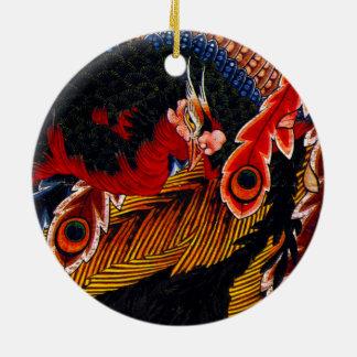 Hokusaiの芸術ganshionの寺院の天井 セラミックオーナメント