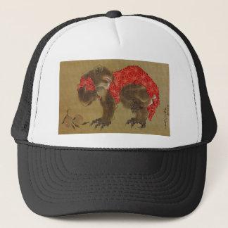 Hokusaiの「猿」のトラック運転手の帽子 キャップ