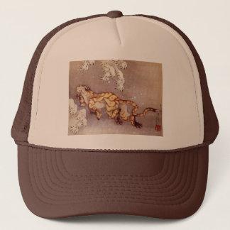 Hokusaiの「雪のトラ」のトラック運転手の帽子 キャップ
