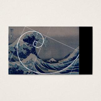 Hokusaiはフィボナッチの金比率に会います 名刺