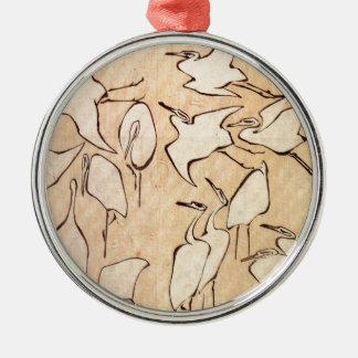 Hokusaiクレーン メタルオーナメント
