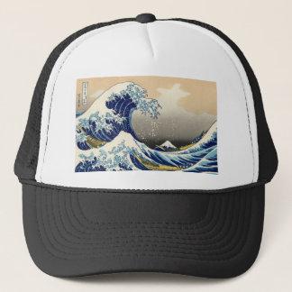 Hokusai素晴らしい波の帽子 キャップ