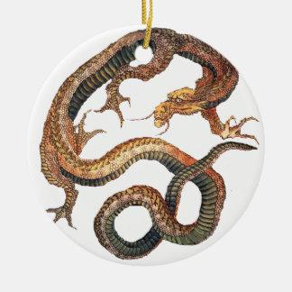Hokusai著ドラゴン セラミックオーナメント